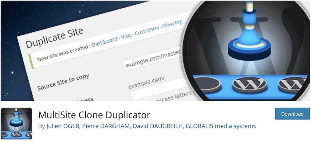 plugin wordpress gratuit pour duplicateur de clones multisites