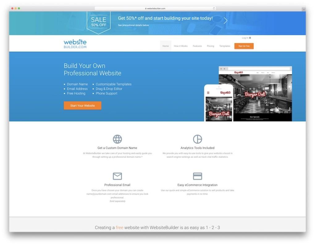 constructeur de site Web de commerce électronique pas cher