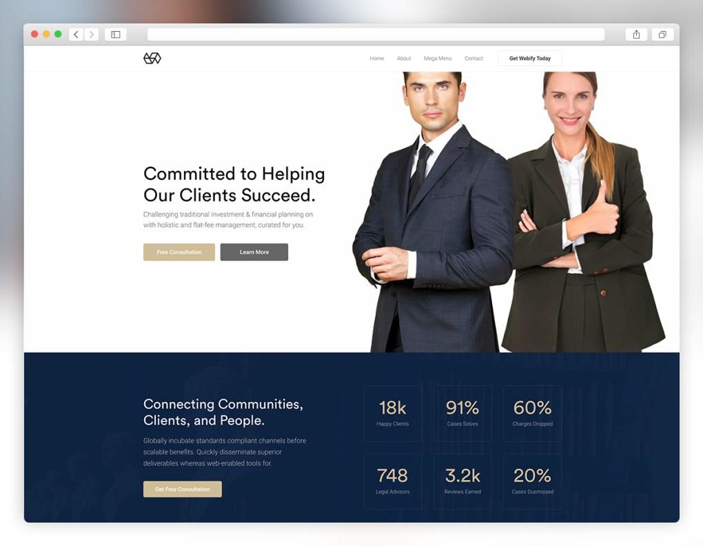 thème wordpress avocat webify