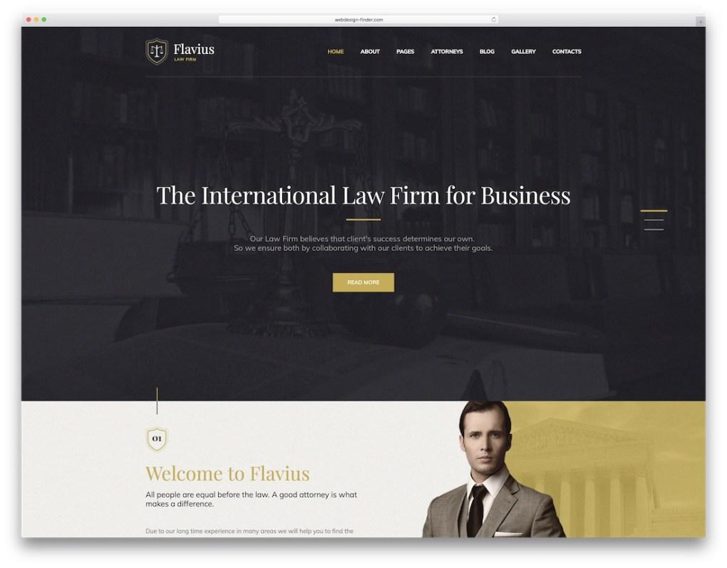 thème wordpress flavius avocat