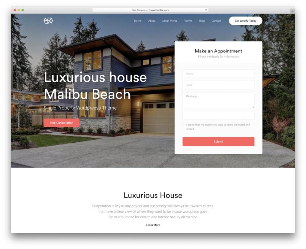 thème wordpress immobilier webify