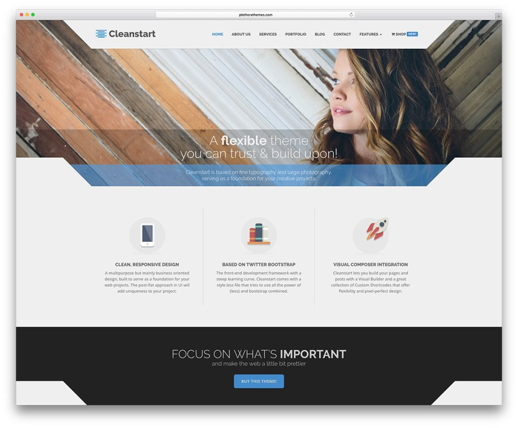 Thème WordPress Cleanstart-Small-Business