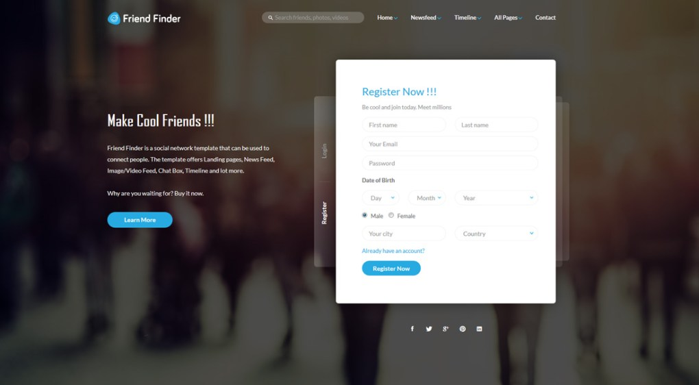 amis-finder-bootstrap-forum-templates