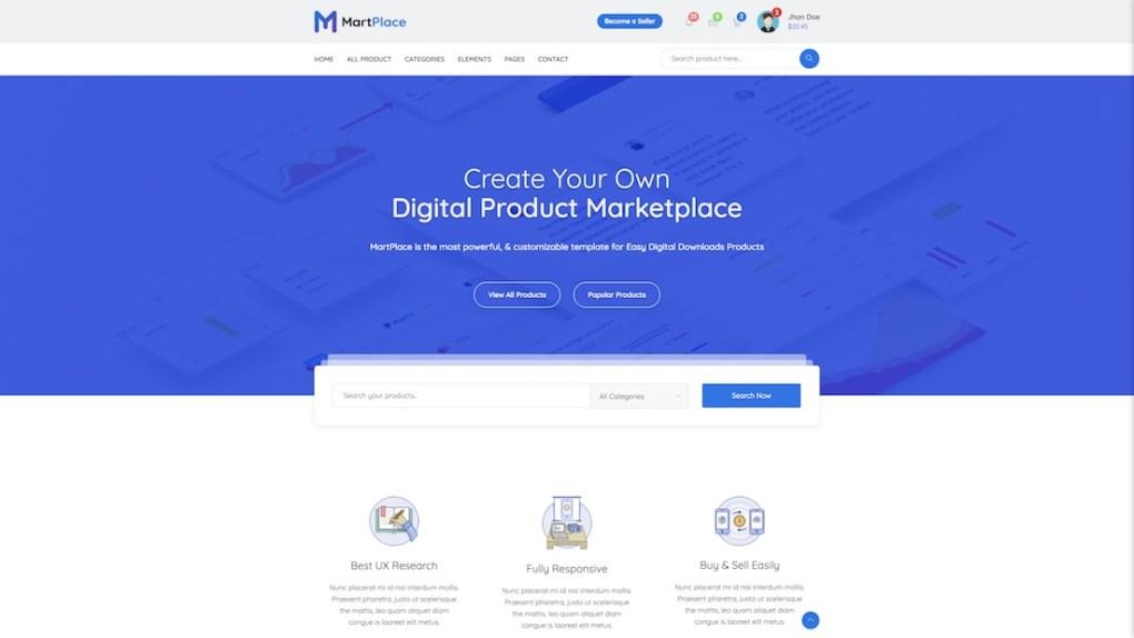 modèle de site de commerce électronique martplace