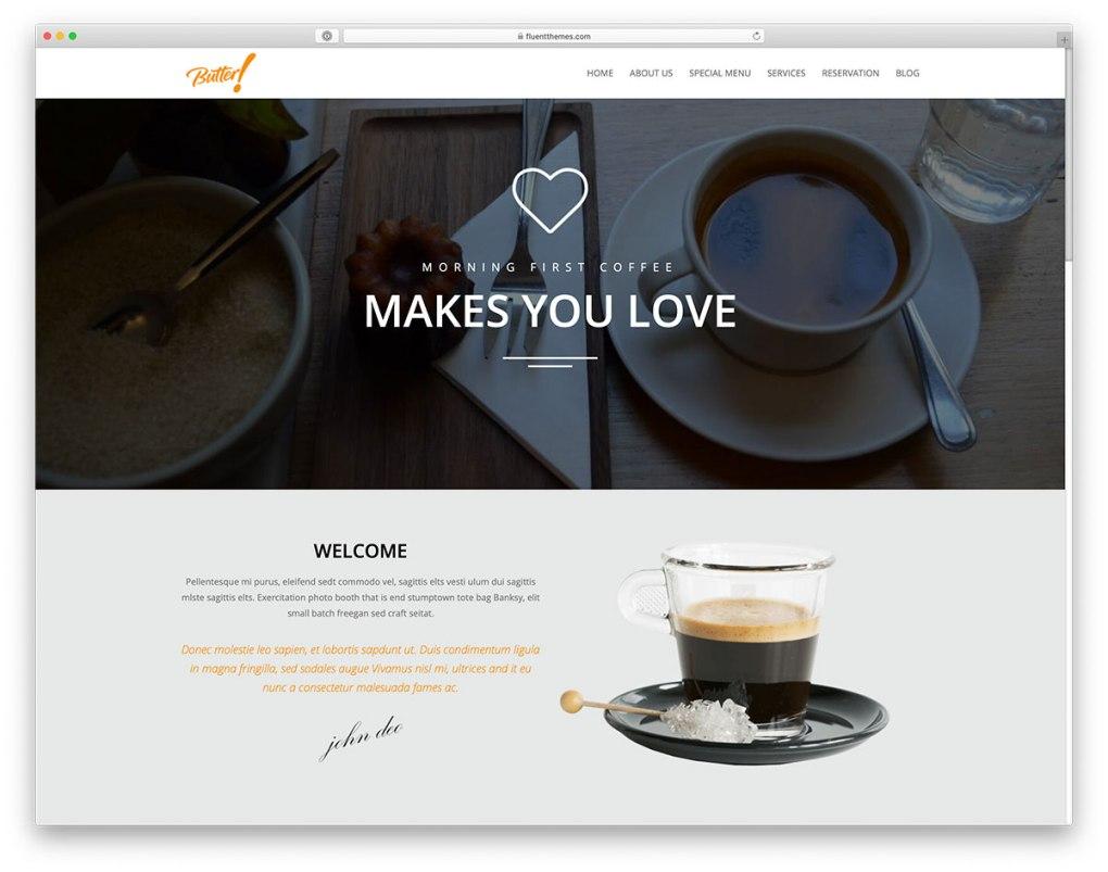 thème WordPress café
