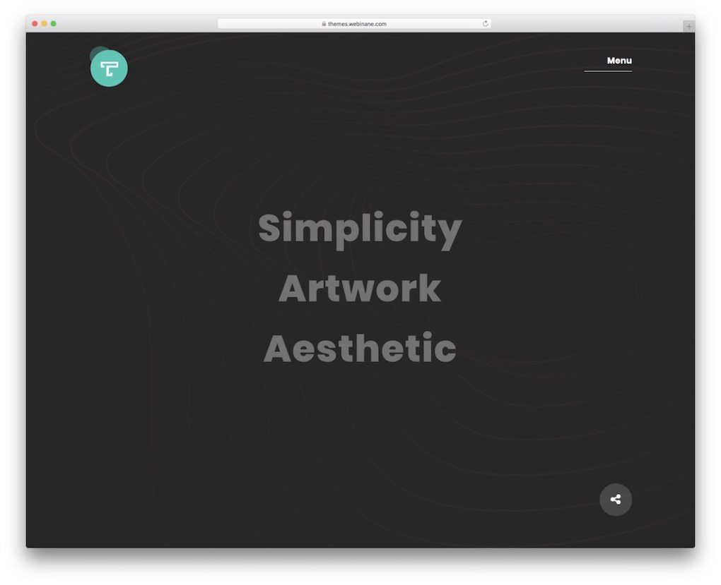 thème wordpress tacon pour les artistes