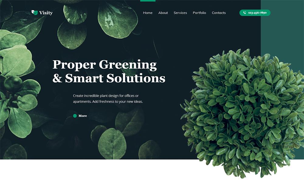 Visity - Design de paysage avec le thème WordPress Elementor