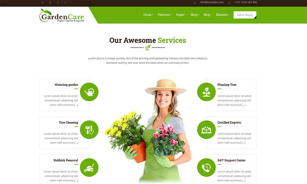 GardenCare - Modèle de site Web de jardinage pour fleurs, fruits, légumes et aménagement paysager