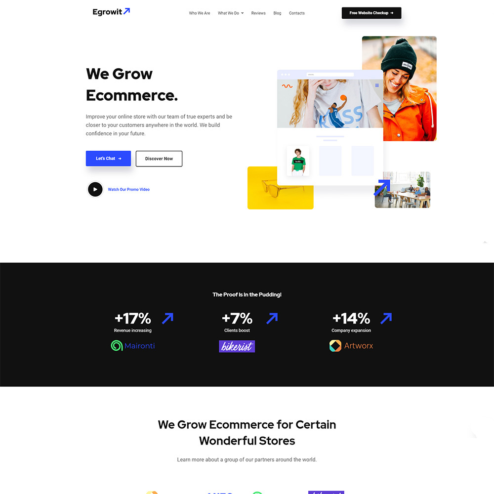 Egrowit - Consultant en marketing numérique Elementor WordPress Theme