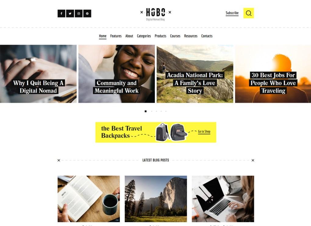 Hobo | Thème WordPress pour blog de style de vie numérique