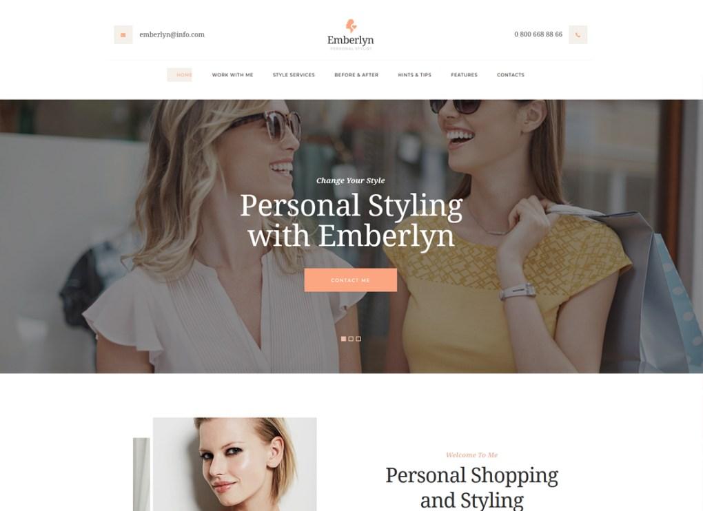 Emberlyn | Thème WordPress pour styliste personnel