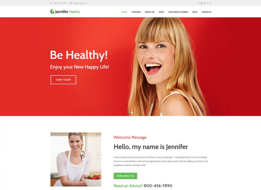 Jannifer Hamis | Blog de coach de santé et thème WordPress du magazine Lifestyle