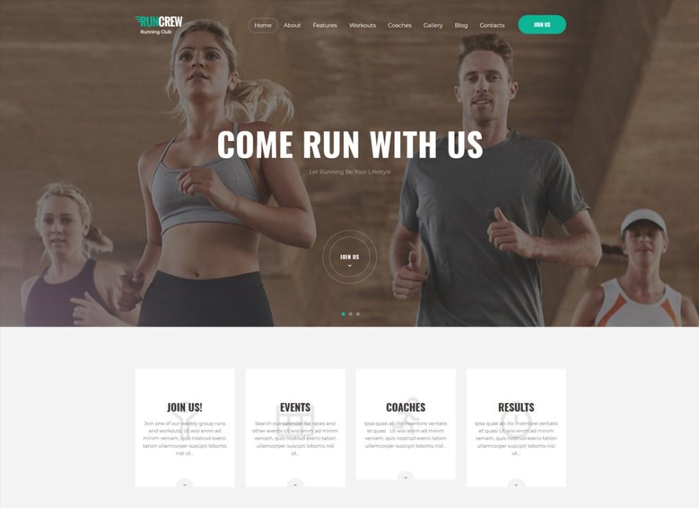 RunCrew | Thème WordPress pour club de course, marathon et sport