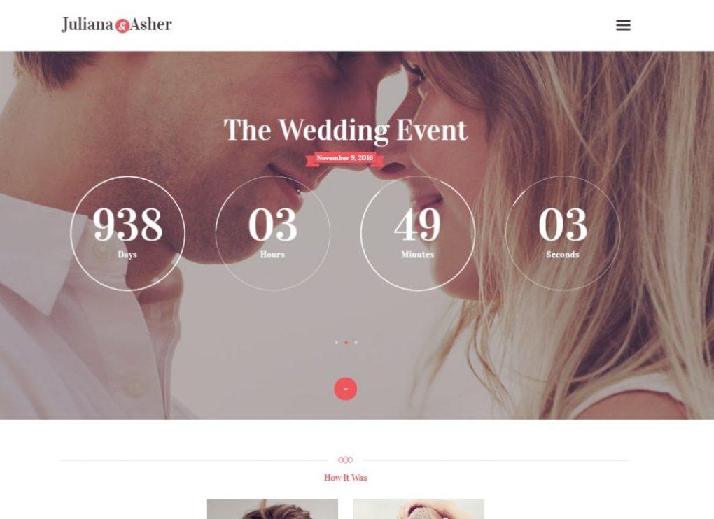 thème WordPress mariage