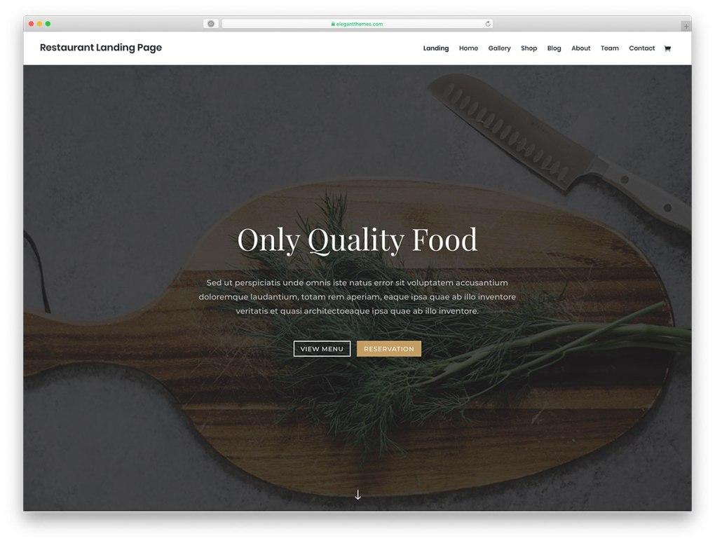 thème WordPress pour restaurant