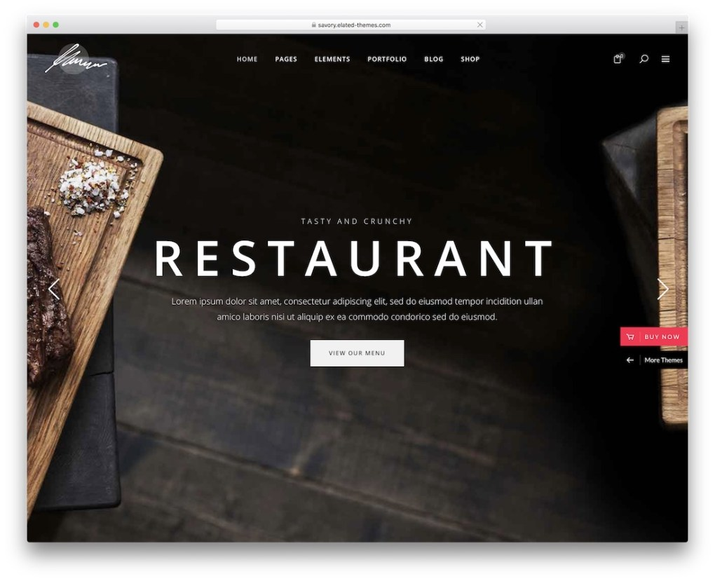 Thème de restaurant wordpress savoureux