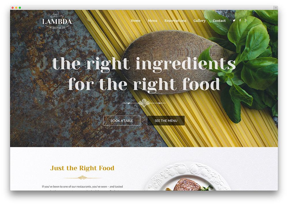 Lambda multipurpose restaurant theme