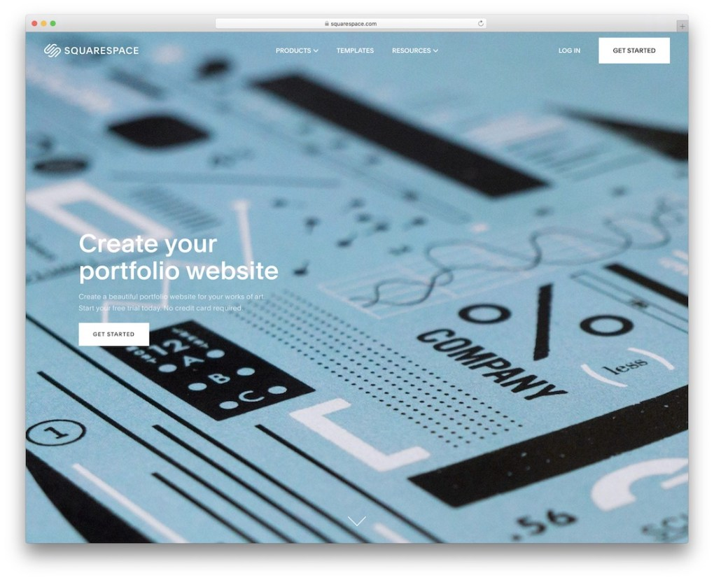 site web du portfolio squarespace build