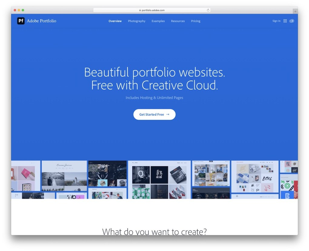adobe portfolio build portfolio site Web