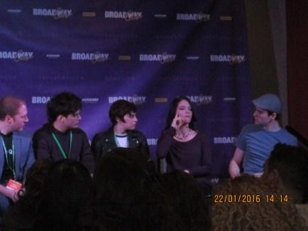 Alex Boniello, Krysta Rodriguez, Sandra Mae Frank, and Daniel Durant of Spring Awakening