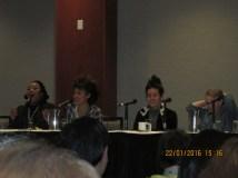 Fredi Walker, Ariana Debose, Roberta Colindrez, and Maggie Keenan-Bolger