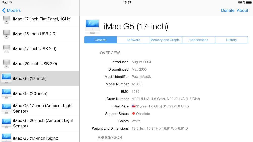 Mactracker iOS