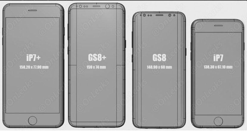 Comparativa S8 y S8+ iPhone 7 y 7 Plus