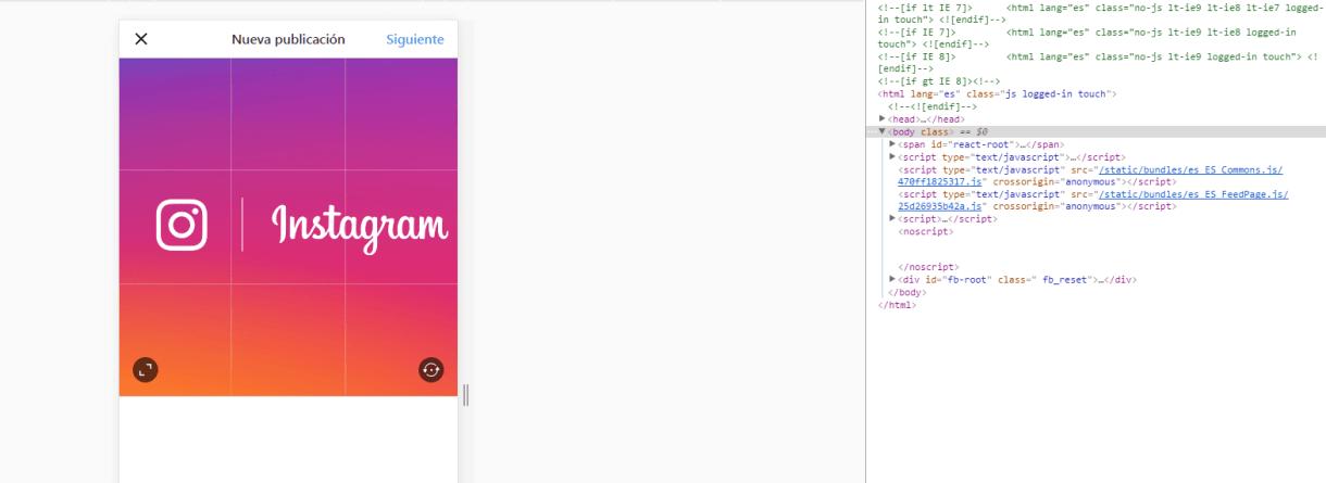 Opciones de programador en Chrome