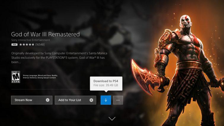 God of War III PlayStation Now