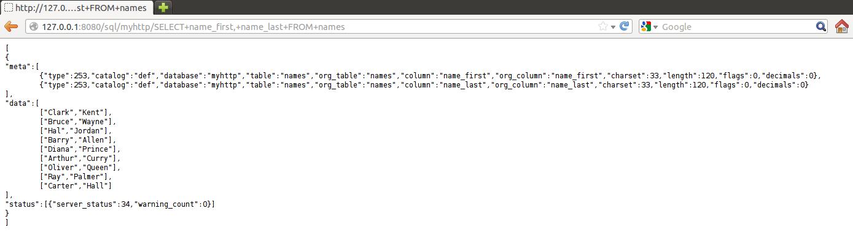 selecting a single name