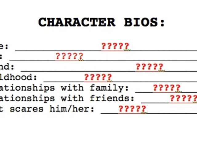 27 Tips for Successful Character Biographies - Script Magazine