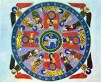 Arte Románico. Tapiz en manuscrito medieval.