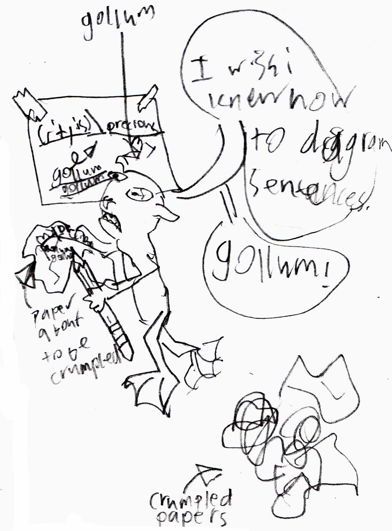 Gollum Diagrams A Sentence