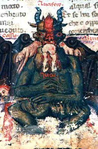 Image result for brutus and cassius in hell