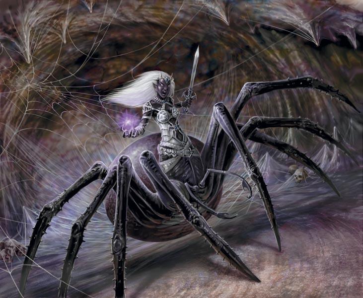 Representação da Mulher-Aranha.