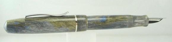 Master Scrivener in Moonlit Forest alumilite, Sterling Silver Cap Band - 7