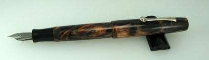 Scrivener in Black and Tan alumilite - 5