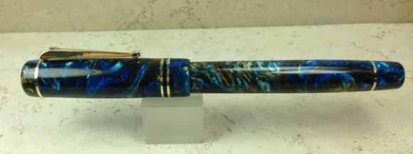 Baskerville in Blue Bronze Lava Lamp #32 - Small