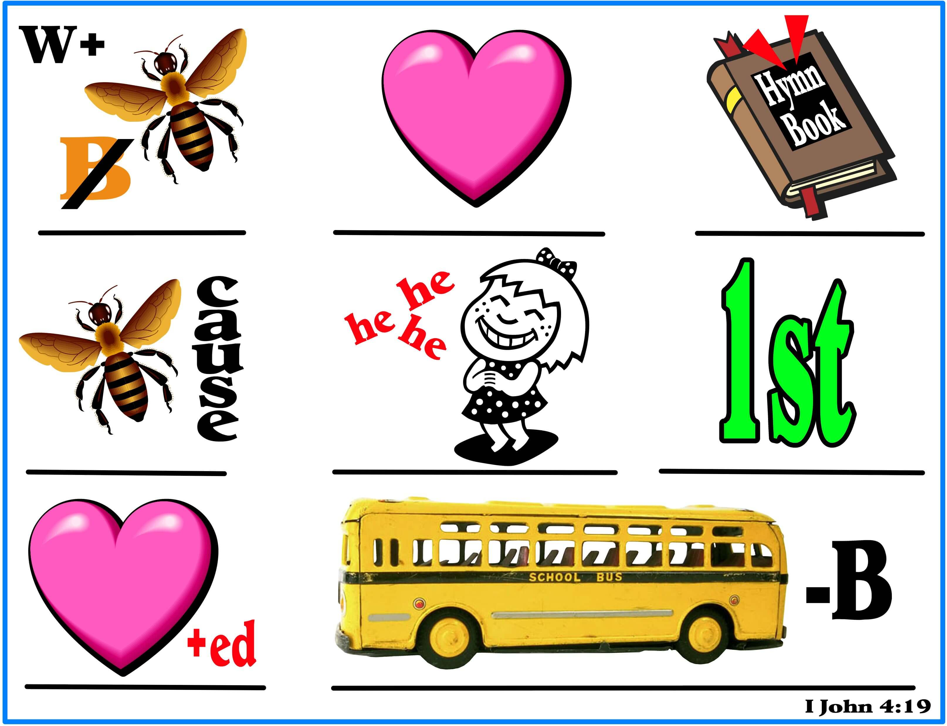 Scripture Lady S Scripture Pictures Bible Verse Rebuses