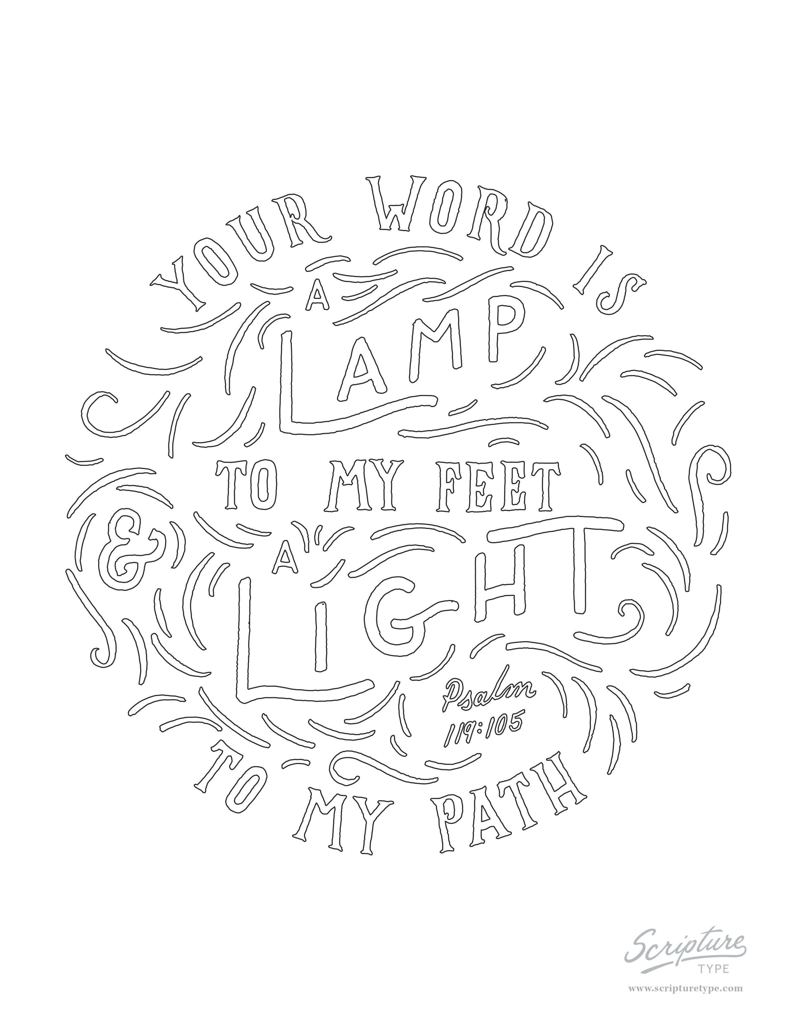 Psalm 119:105 — Scripture Type