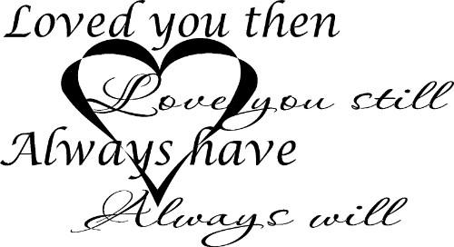 love quotes vinyl wall
