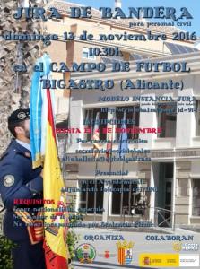 Cartel Jura de Bandera Civil 2016 Bigastro