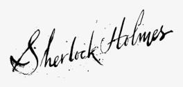 firma di sherlock holmes