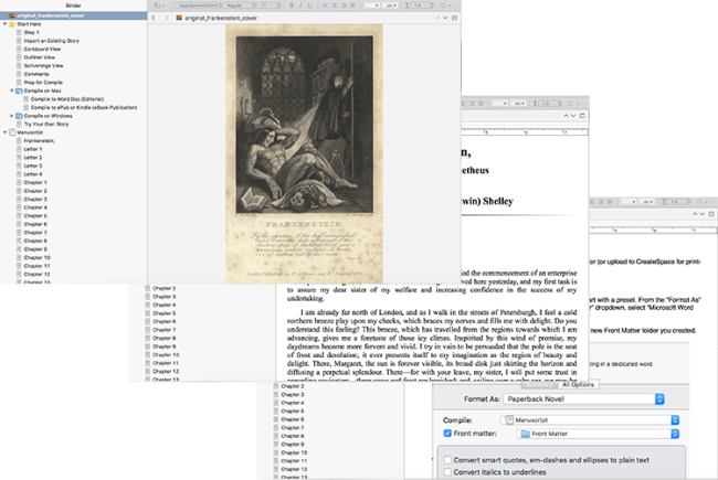 Scrivener Superpowers Workbook Screen Shots