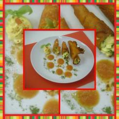 """""""Pennellata di rosso"""", piatto realizzato dalla classe I D"""