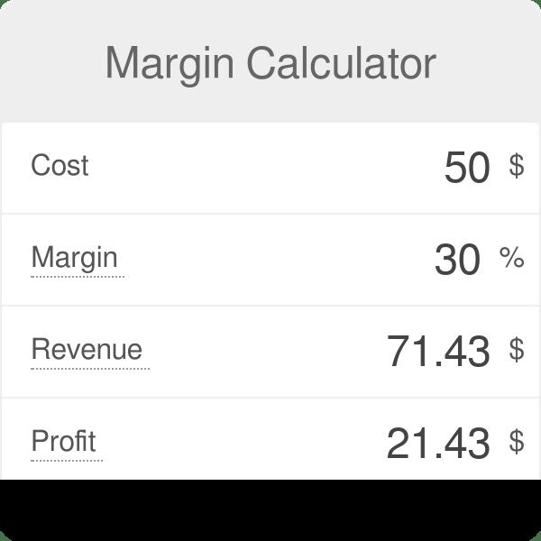 margin calculator omni