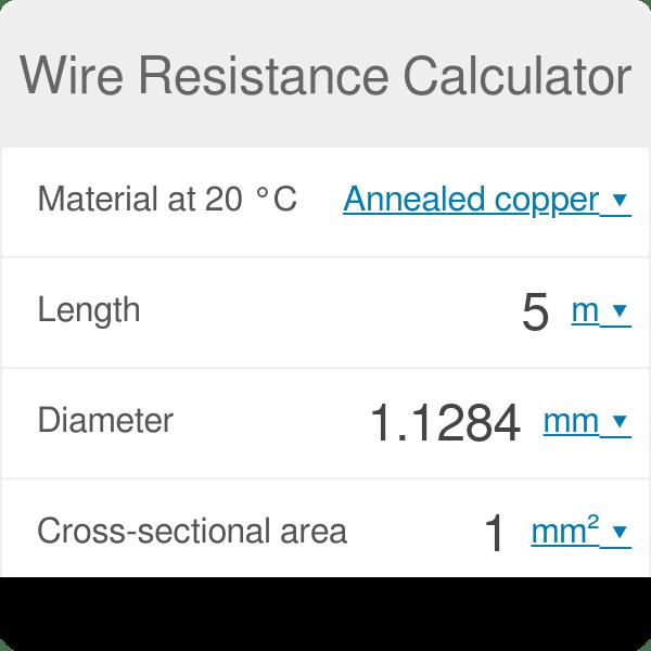 wire resistance calculator omni