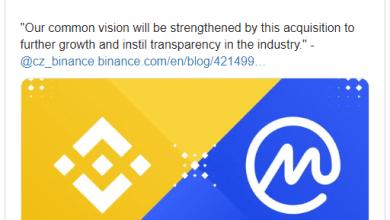 Photo of Bitcoin-ბირჟა Binance-მა დაადასტურა CoinMarketCap-ის შეძენა