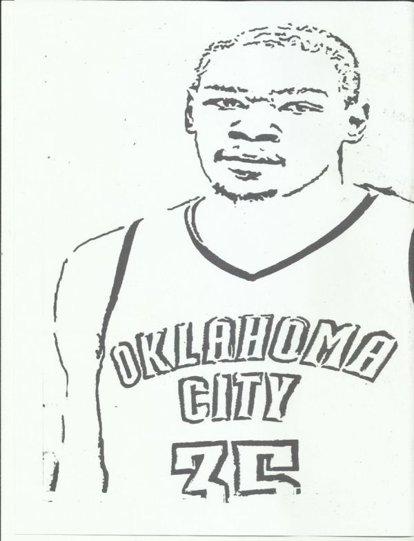20+ Kevin Durant Warriords Printable Coloring Pages Ideas and Designs