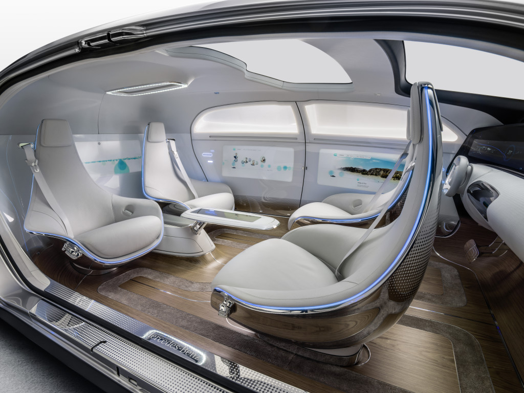 The Mercedes F 015 interior. (Provided by Daimler AG)